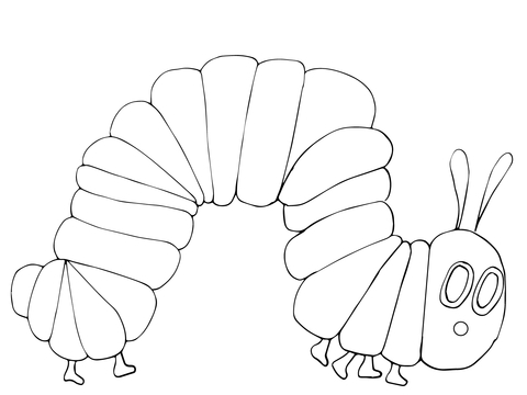 The very hungry caterpillar black and white clipart picture transparent stock Very Hungry Caterpillar coloring page | Free Printable ... picture transparent stock