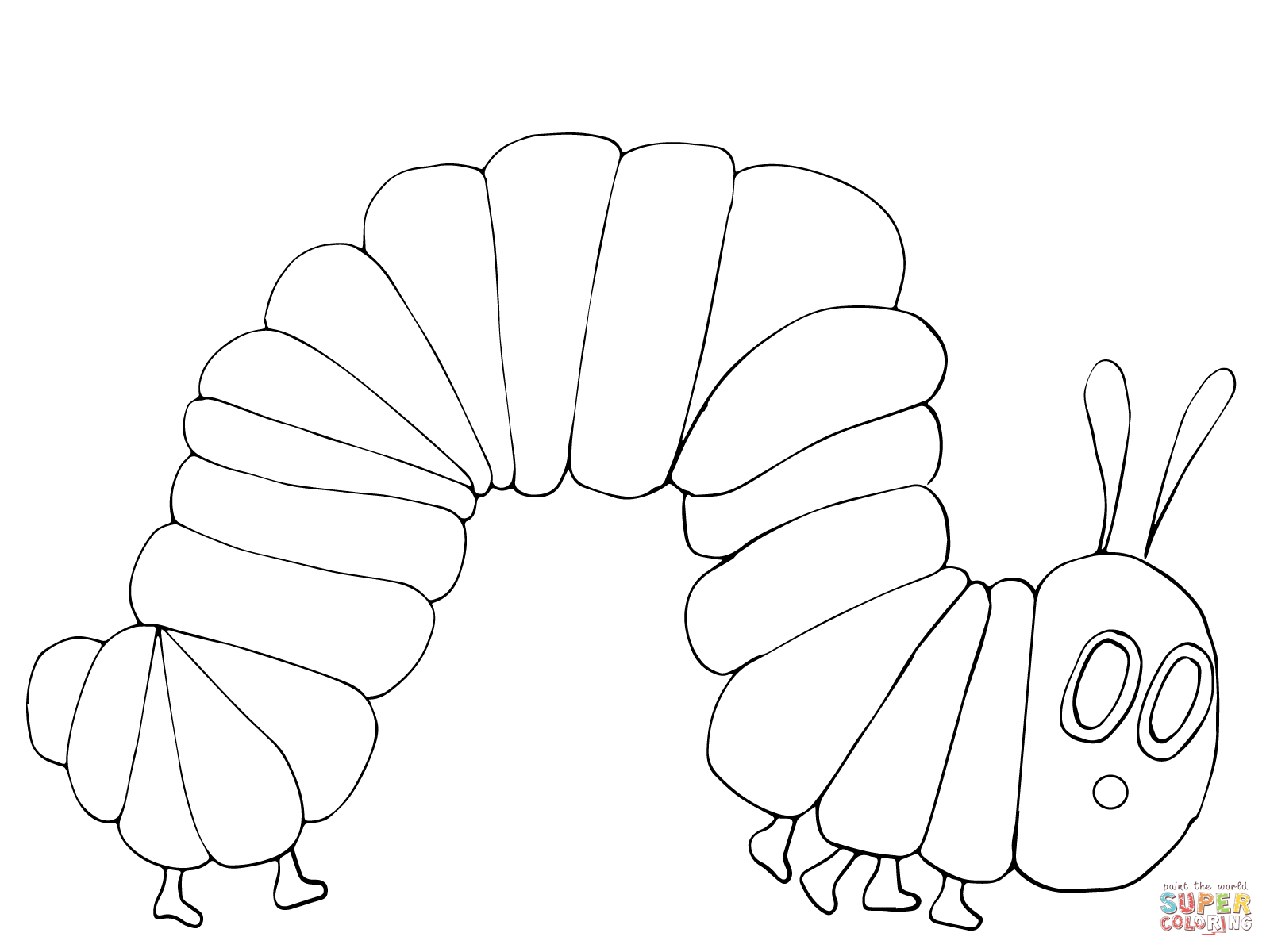 The very hungry caterpillar black and white clipart clip transparent Coloring Pages : Very Hungry Caterpillar Printable Coloring ... clip transparent