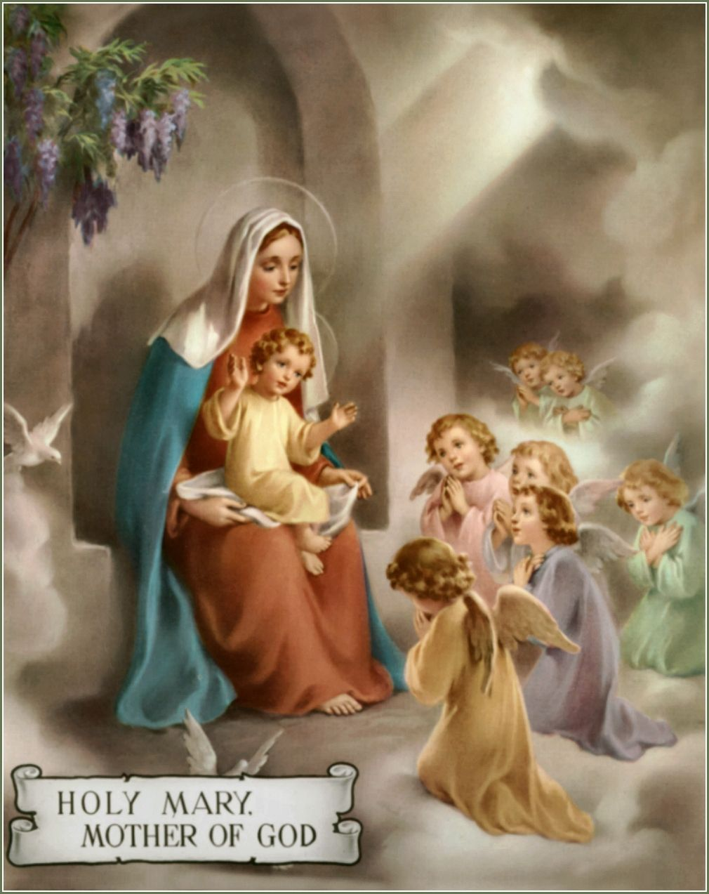 The virgins mary had a baby boy clipart png freeuse download Hail Mary through pictures. Holy Mary Mother of God | My ... png freeuse download