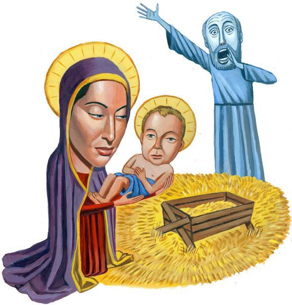 The virgins mary had a baby boy clipart clip royalty free library Putting St. Joseph back in the picture. clip royalty free library