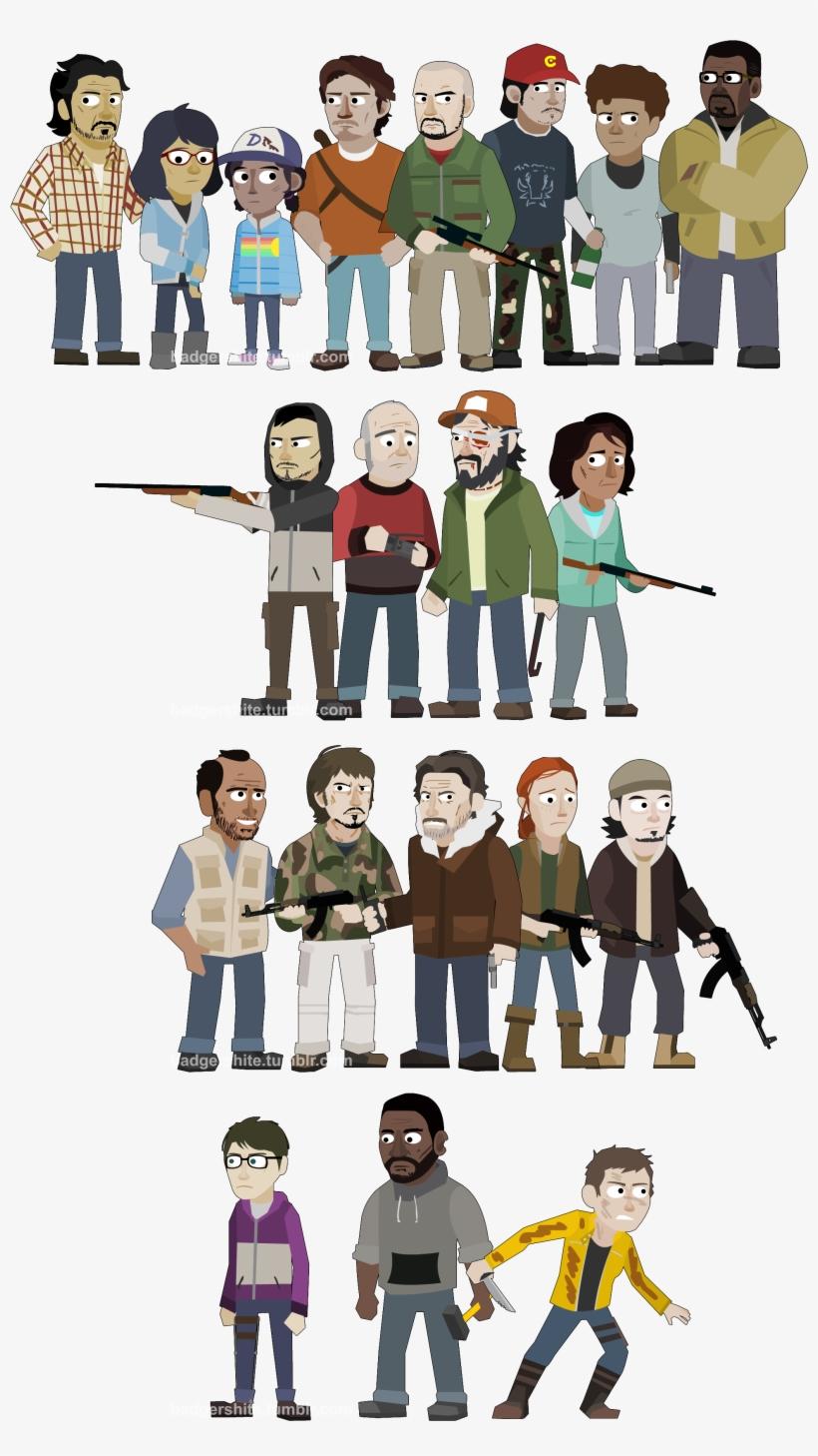The walking dead the final season clipart vector freeuse The Walking Dead Game Fan Art - The Walking Dead vector freeuse