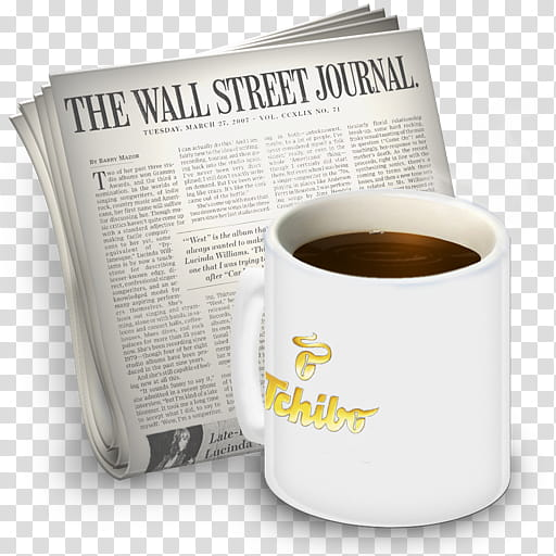 The wall street journal clipart vector black and white download Newsreader Icons vol , Starbucks, The Wall Street Journal ... vector black and white download