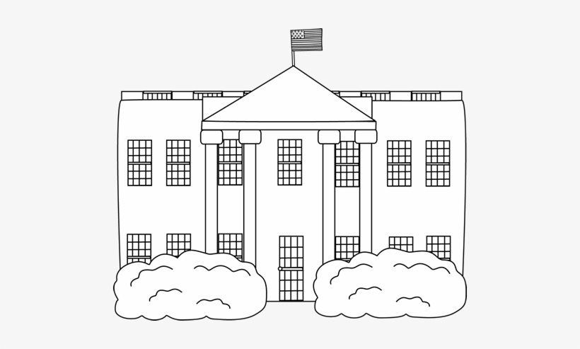 The white house clipart black and white free vector stock Cute President Cliparts - White House Clipart Black And ... vector stock