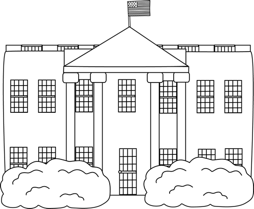 The white house clipart black and white free png stock Clip Art White House | www.thelockinmovie.com png stock