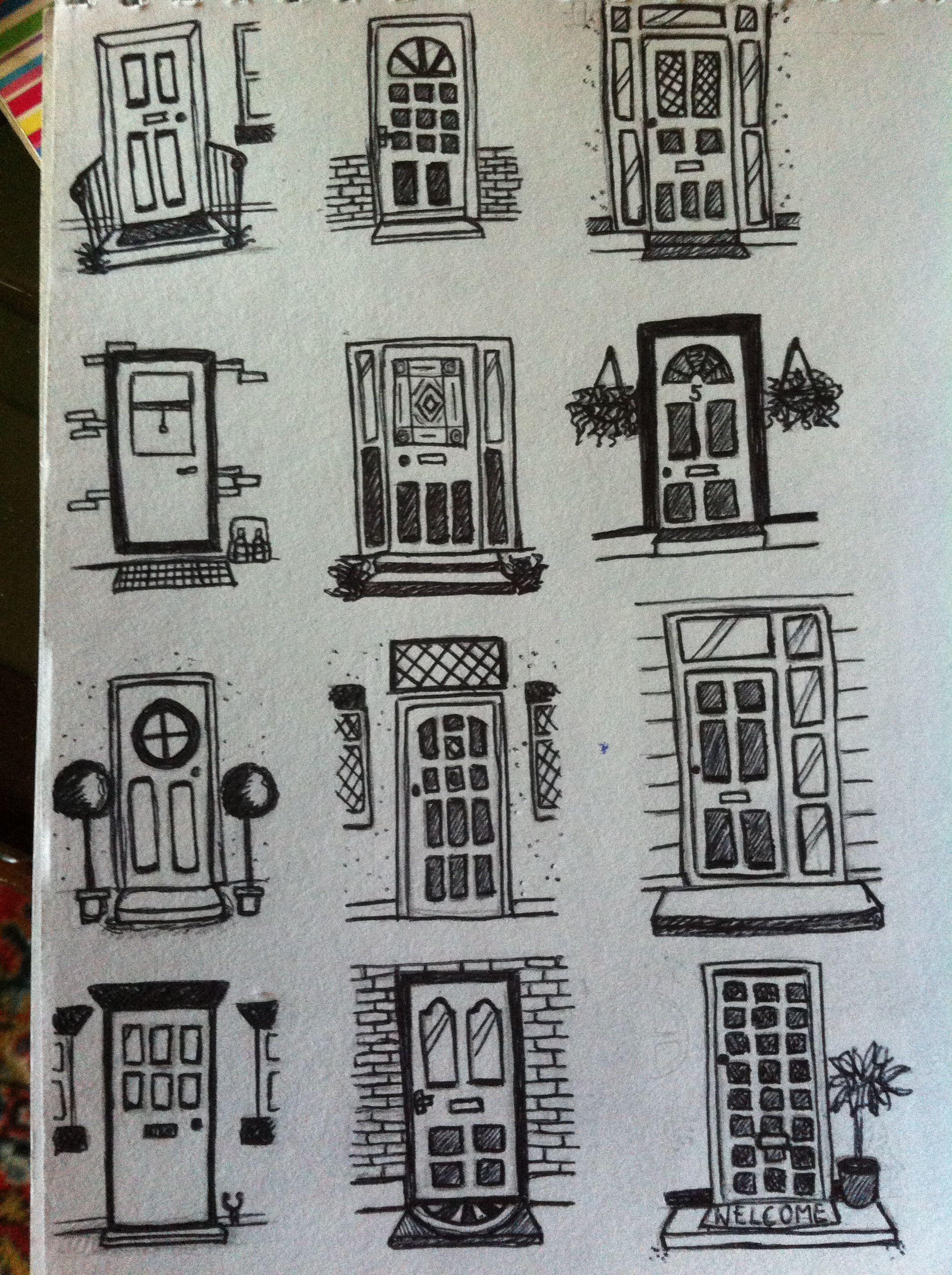 The white house front door arch clipart image free library Front door doodles | Door drawings in 2019 | Drawings, House ... image free library