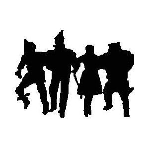 Wizard of oz clipart black and white