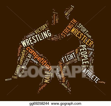 The word browns clipart picture royalty free stock Stock Illustration - Wrestling word cloud with brown ... picture royalty free stock