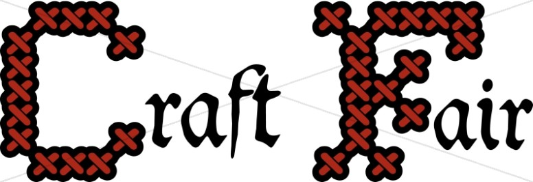 The word fair as clipart image royalty free library Church Craft Fair | Church Word Art image royalty free library