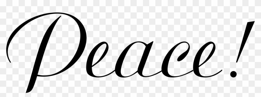 The word gave transparent clipart clipart black and white Peace Clipart The Word - Clip Art - Free Transparent PNG ... clipart black and white