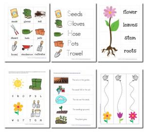 The word grow written in a flower clipart svg transparent library Free Preschool Garden Printable Pack | Ideas for the ... svg transparent library