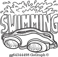 The word swimming clipart graphic royalty free library Swimming Clip Art - Royalty Free - GoGraph graphic royalty free library