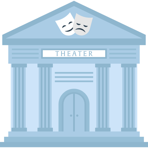 Theater building clipart clip royalty free download Theater, museum, theatre, Monuments, temple, buildings icon clip royalty free download