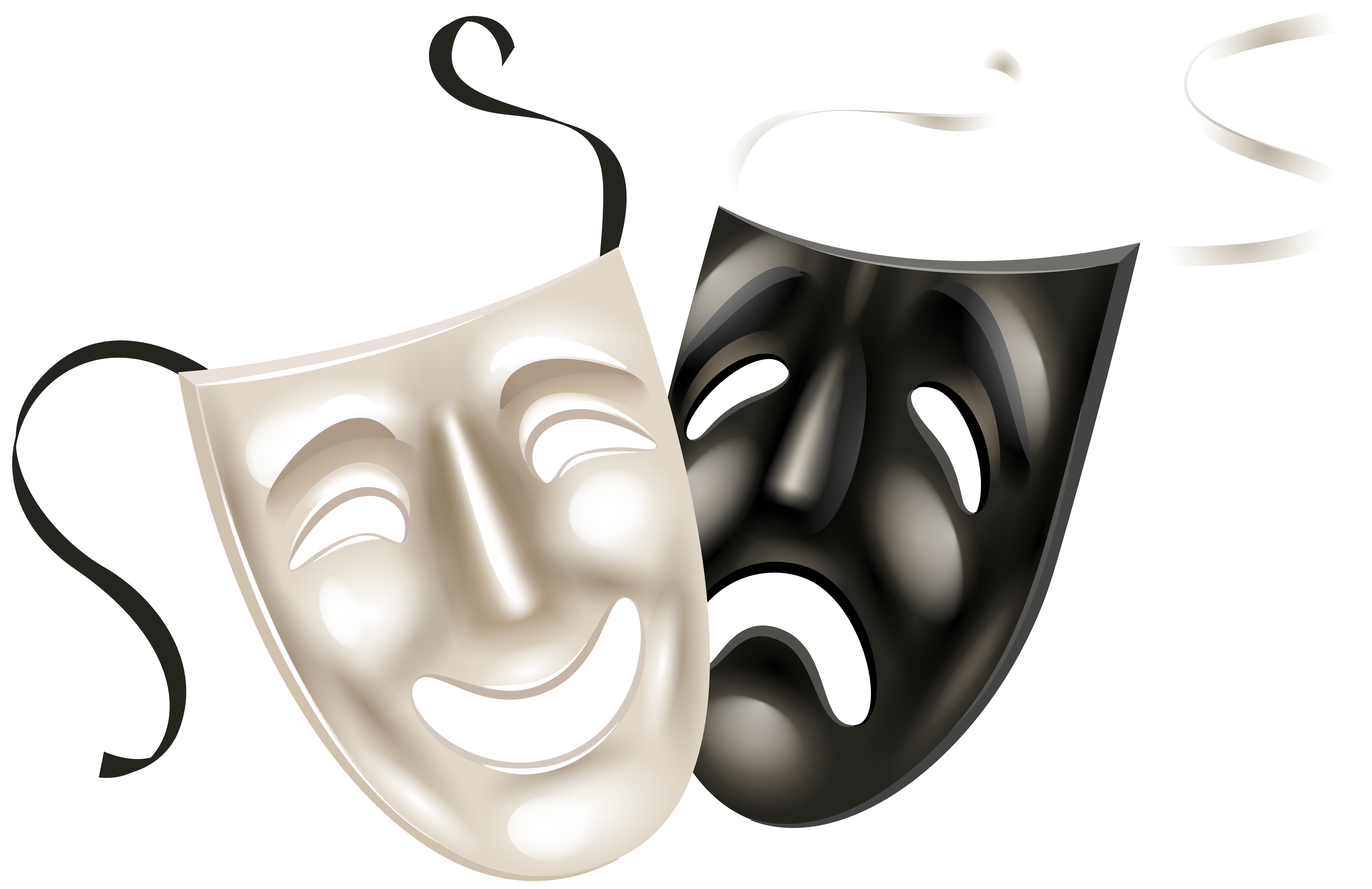 Theater mask clipart picture royalty free Theater Masks PNG Clip Art PNG Image | Gallery Yopriceville ... picture royalty free