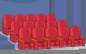 Theater seats clipart vector black and white library Theatre Seats Clipart   Free Images at Clker.com - vector ... vector black and white library
