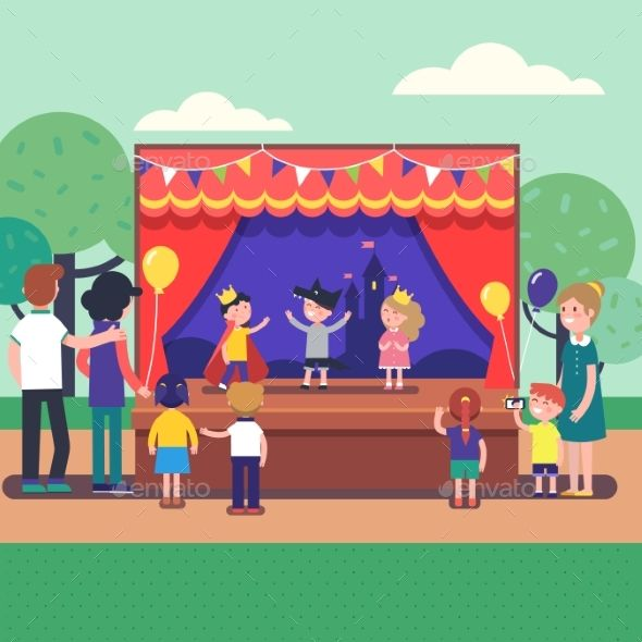 Theater show clipart graphic library download Kids Theater Performance Show on Scene | Fonts-logos-icons ... graphic library download