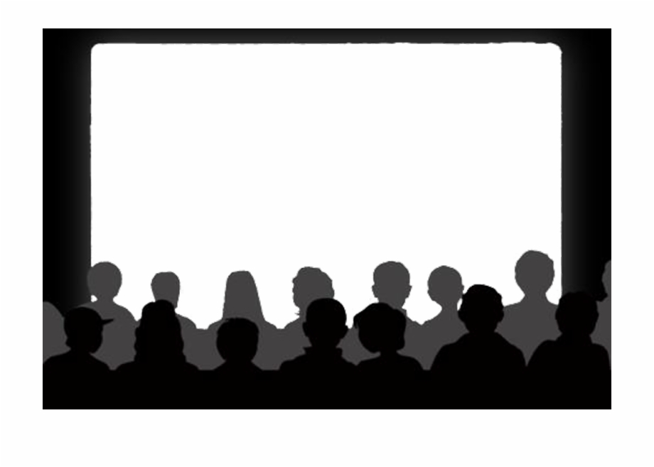Theater show clipart jpg free Cinema Theater Show Audience - Movie Audience Silhouette ... jpg free