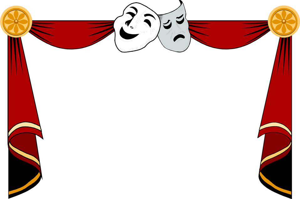 Theater show clipart banner black and white Puppet show clip art clipart images gallery for free ... banner black and white