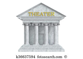 Theatre building clipart svg transparent stock Theatre Building With Columns, 3D Rendering - 194*270 - Free ... svg transparent stock
