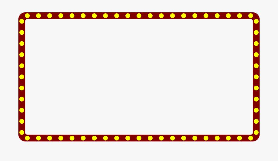Theatre lights border clipart clip art black and white download Marquee Lights Border Clipart - Concessions Menu Movie ... clip art black and white download