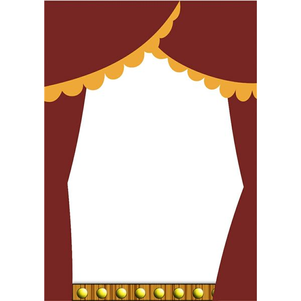 Theatre document frame clipart banner free Free Stage Curtains Clipart, Download Free Clip Art, Free ... banner free