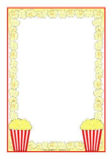Theatre document frame clipart vector royalty free stock Popcorn A4 page borders (SB8252) - SparkleBox - Makes a ... vector royalty free stock