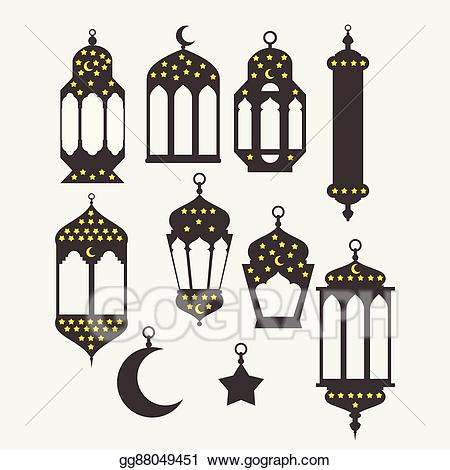 Theme design clipart jpg black and white library Vector Clipart - Ramadan kareem - islamic holy nights, theme ... jpg black and white library