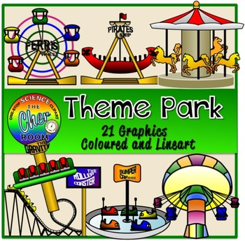 Theme park clipart black and white Theme Park Clipart (Amusement Park, Carnival, Roller Coaster) black and white