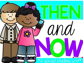 Then & now clipart graphic download Long Ago and Today {A Then and Now Social Studies Unit ... graphic download