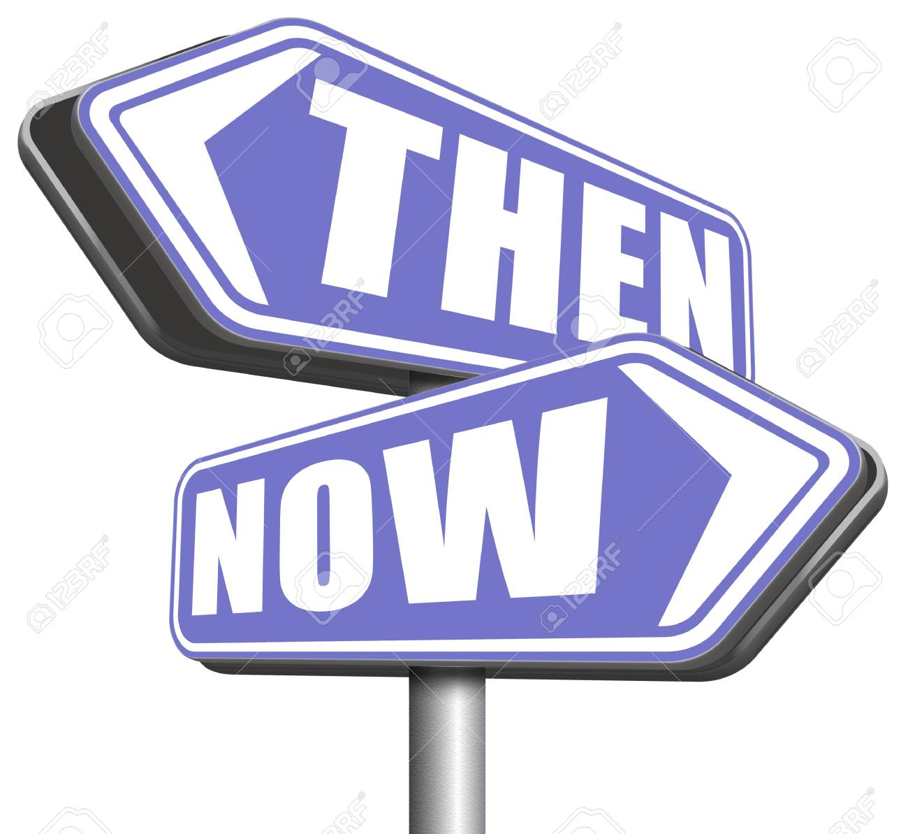 Then & now clipart image royalty free library Clipart Of Colorful Words, THEN AND NOW, With Shadows, On ... image royalty free library