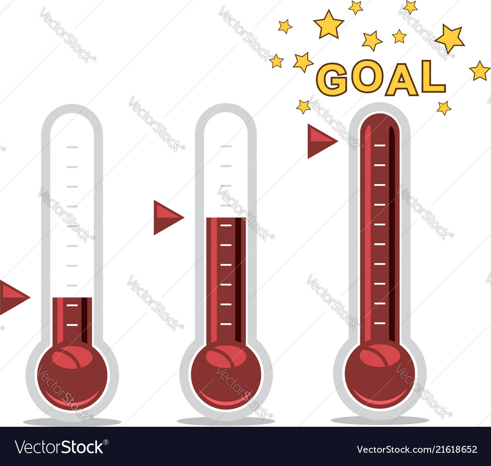 Thermometer clipart goal image library library Clipart of goal thermometers at different levels image library library