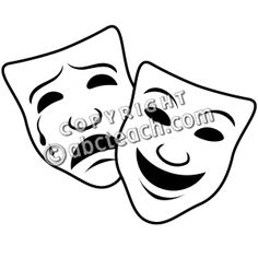 Thespian mask clipart