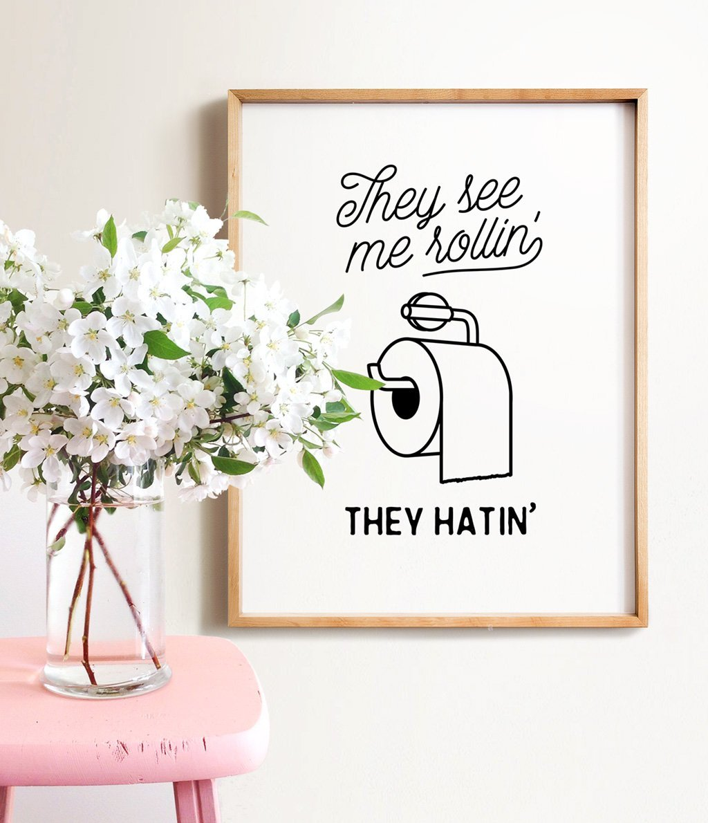 They see me rolling clipart for bathroom clip royalty free stock The Crown Prints - Baby Animal Prints, Bath Art & more by ... clip royalty free stock