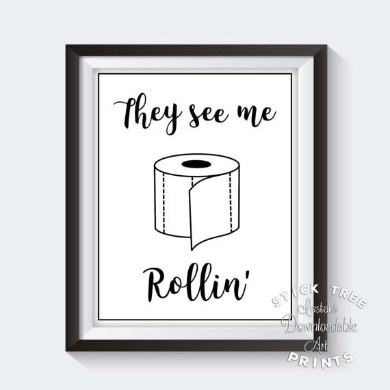 They see me rolling clipart for bathroom svg download They See Me Rollin - White and Black, They See Me Rolling ... svg download
