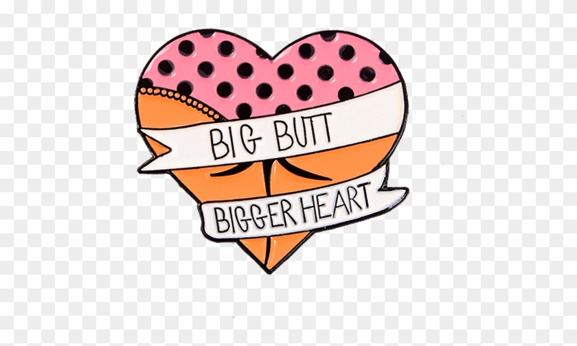 Thick butt clipart jpg black and white stock Funny New Big Butt Bigger Heart Banner Funny Quote - Girls ... jpg black and white stock