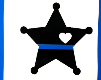 Thin blue line clipart graphic library download SALEPolice Thin Blue Line Decal heart back the blue graphic library download