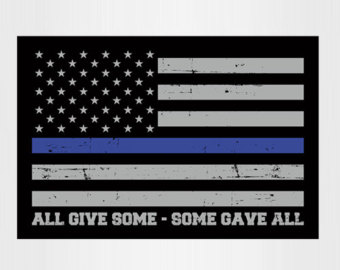 Thin blue line clipart vector free American flag with blue line clipart - ClipartFest vector free