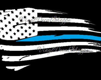 Thin blue line clipart image stock Thin blue line decal | Etsy image stock