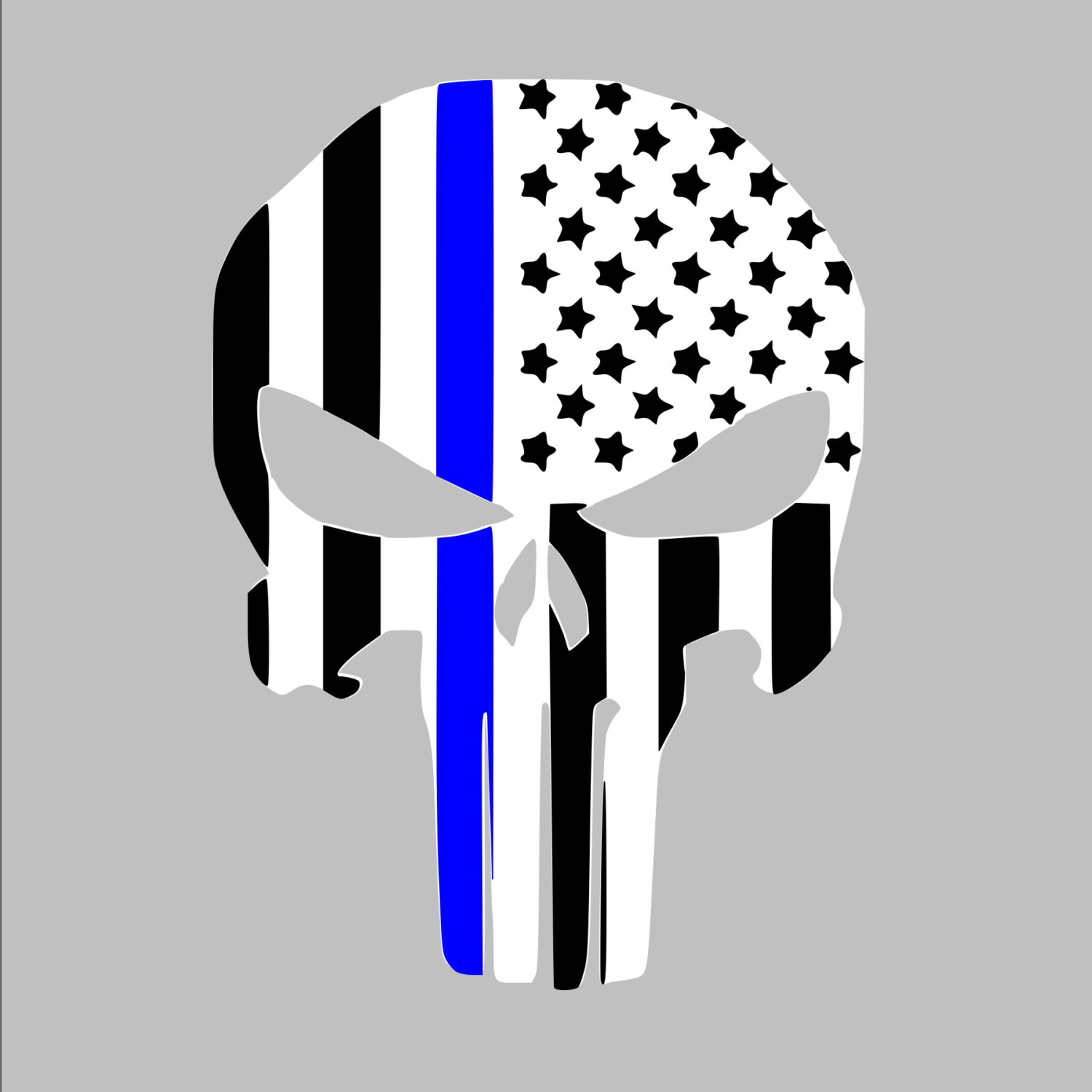 Thin blue line clipart banner black and white Thin blue line | Etsy banner black and white