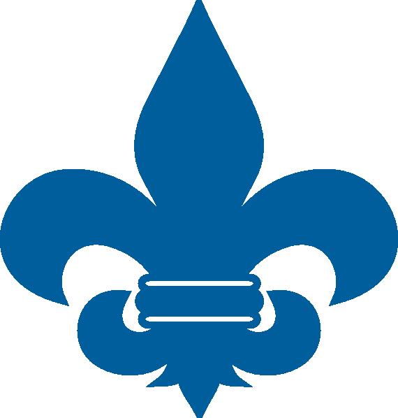 Thin blue line fleur de lis clipart clip download Cub Scout Blue Fleur De Lis clip art - vector clip art ... clip download