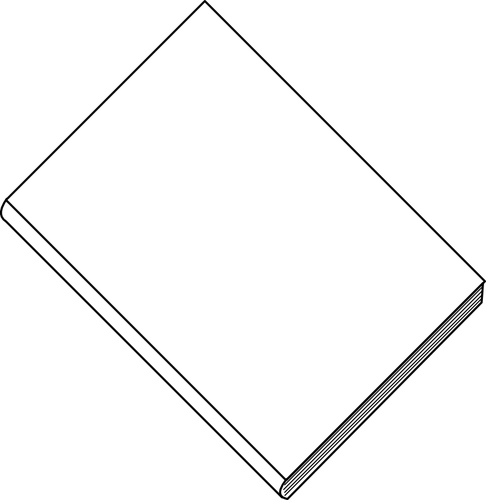 Thin book clipart banner black and white Blank white book | Public domain vectors banner black and white
