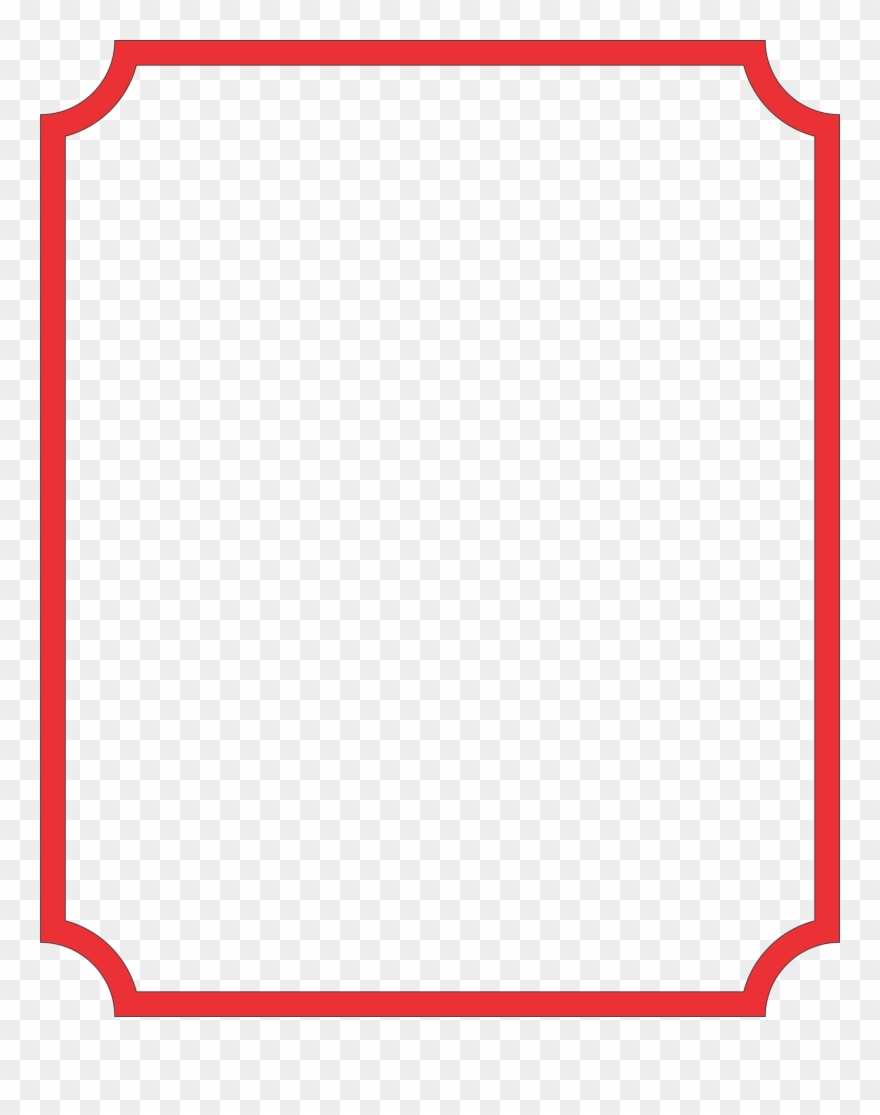 Rectangular Clipart Thin Border - Carmine - Png Download ... jpg library stock