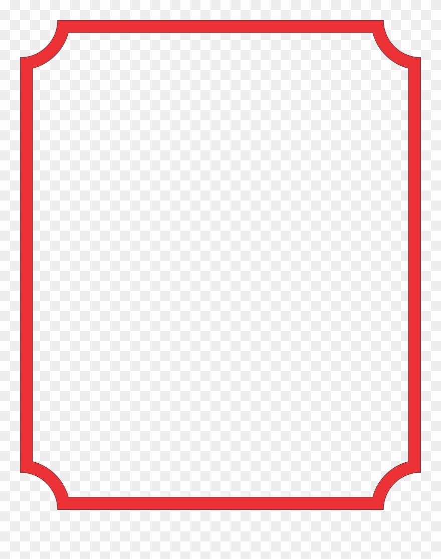 Thin border clipart vector royalty free library Rectangular Clipart Thin Border - Carmine - Png Download ... vector royalty free library