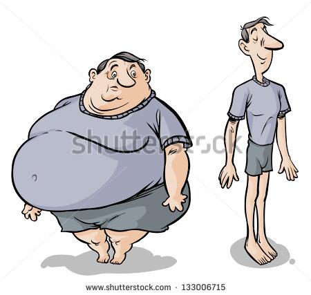 Thin boy clipart clipart Thin Fat Clipart - Clipart Kid clipart