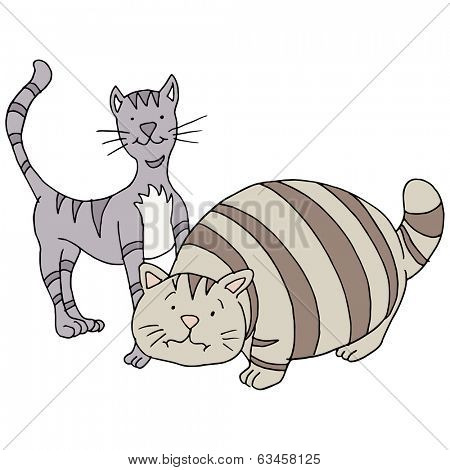 Thin cat clipart image stock Fat and thin cat clipart - ClipartFest image stock