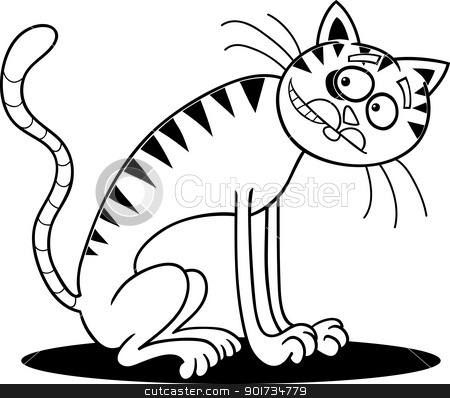 Thin cat clipart