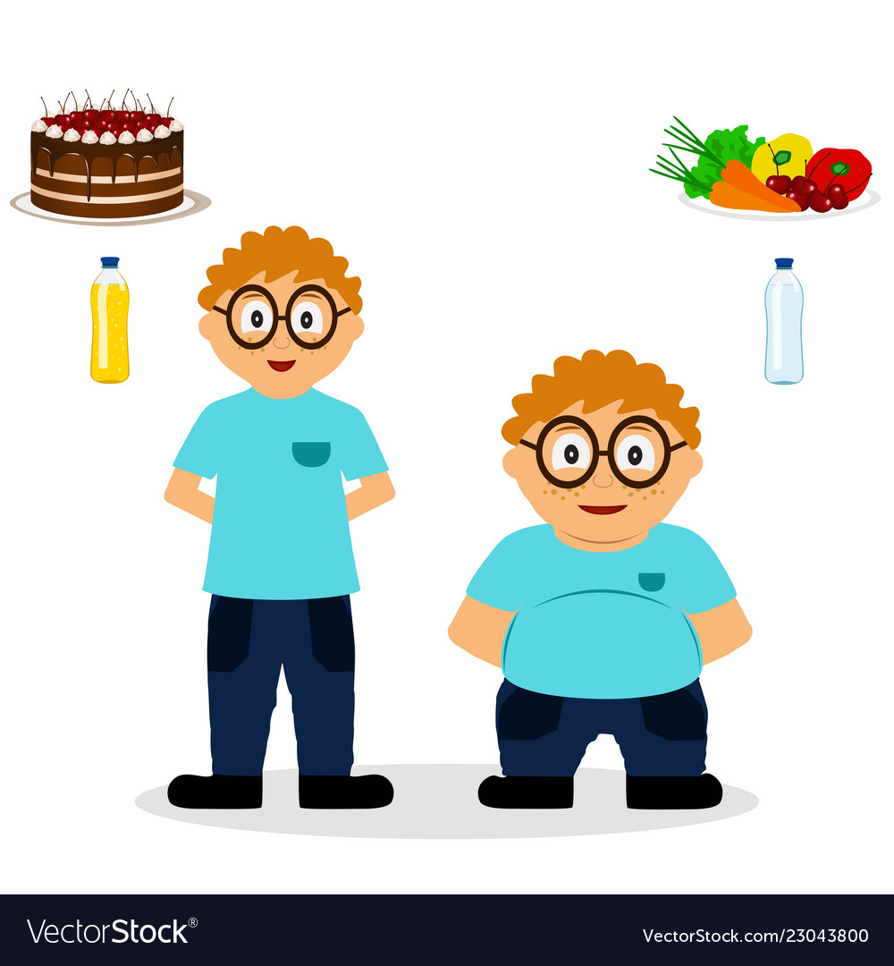 Thin child clipart image transparent library Thin and fat child the boy becomes thin image transparent library
