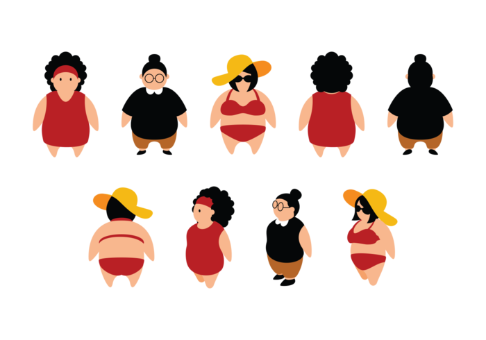Fat guy basketball clipart clip black and white library Fat Chick Silhouette at GetDrawings.com | Free for personal use Fat ... clip black and white library