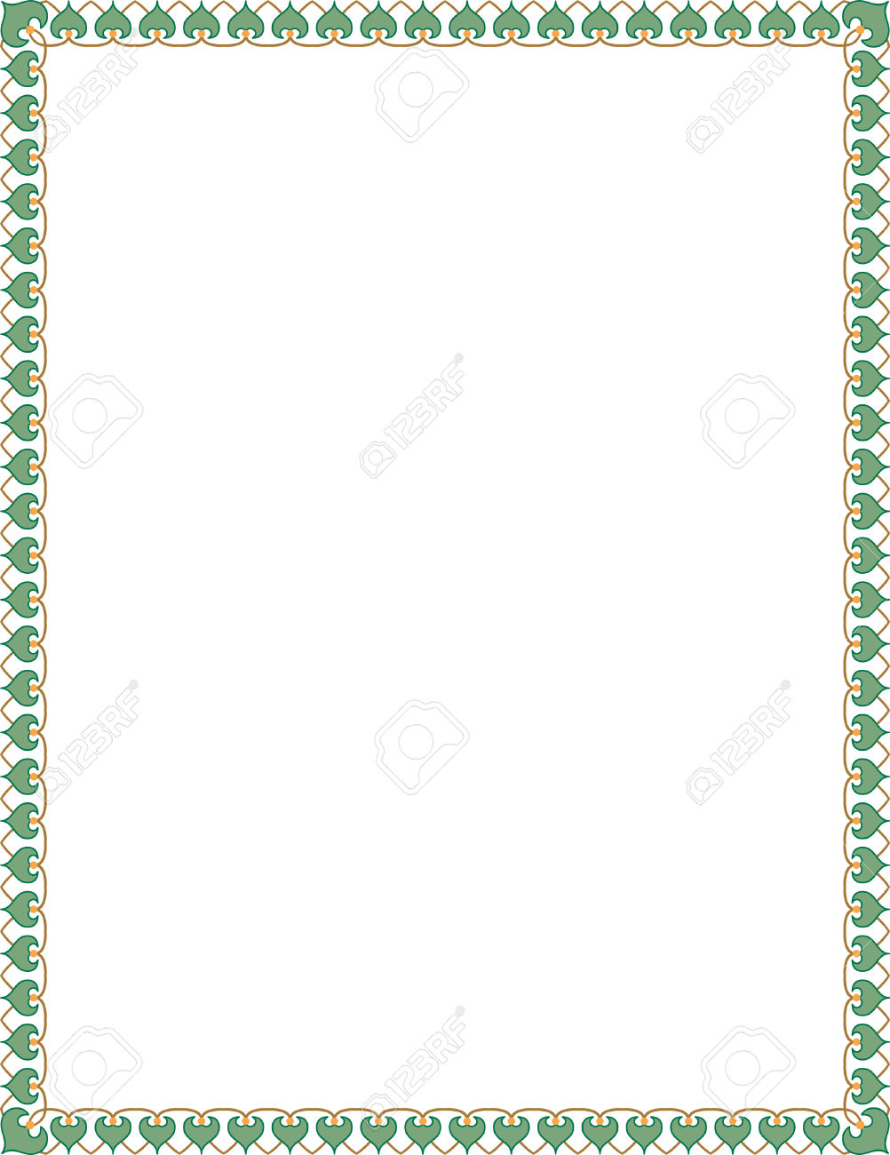Thin frame clipart clipart royalty free download Simple Tiling Thin Frame, Colored Royalty Free Cliparts, Vectors ... clipart royalty free download