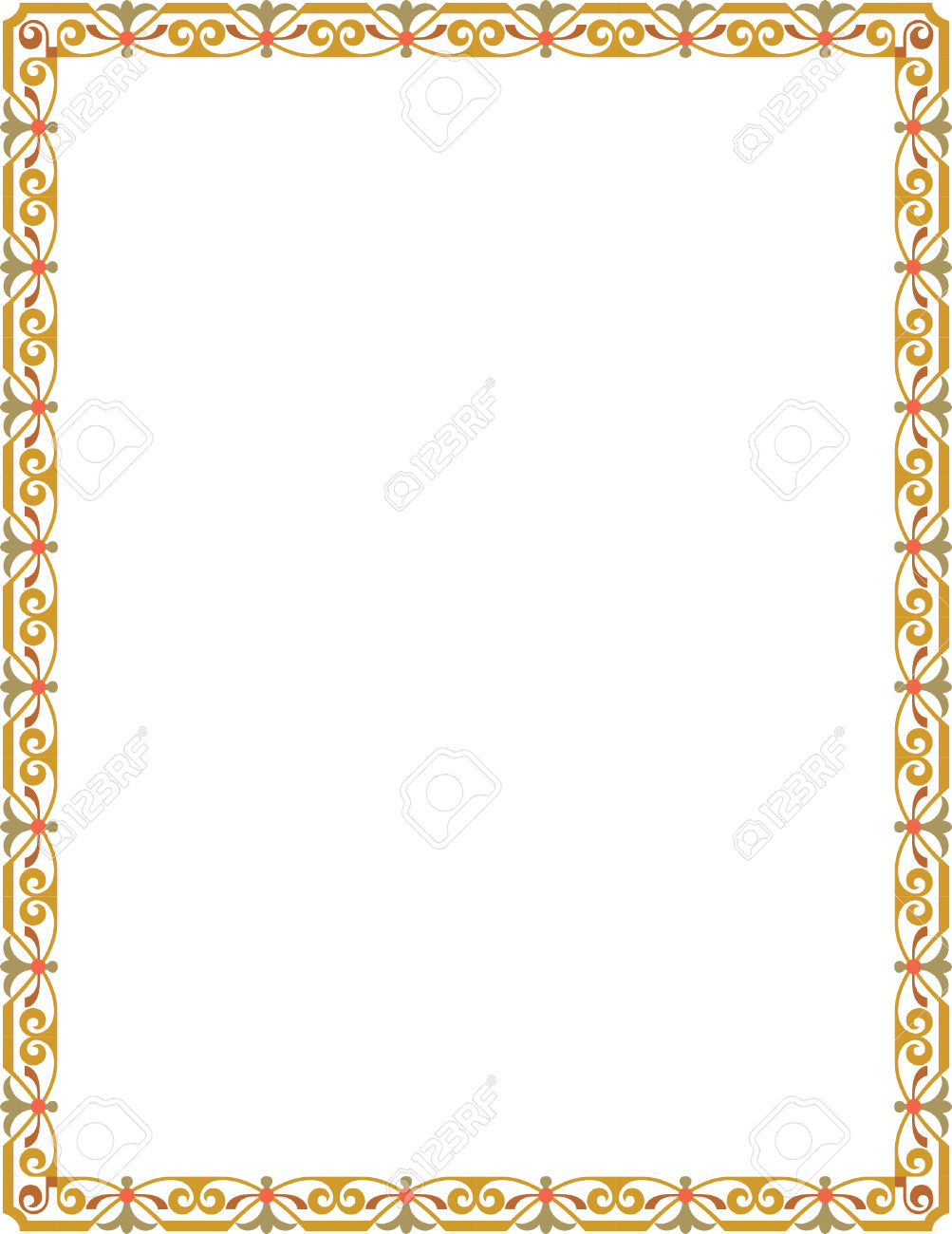 Thin frame clipart transparent download Simple Tiling Thin Frame, Colored Royalty Free Cliparts, Vectors ... transparent download