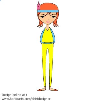 Thin girl clipart banner freeuse Slim girl clipart - ClipartFest banner freeuse